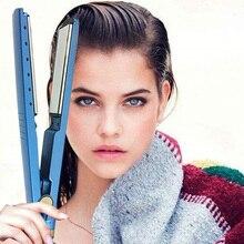 2019  titanium Plates hair straightener crimper styling tool curler flat iron