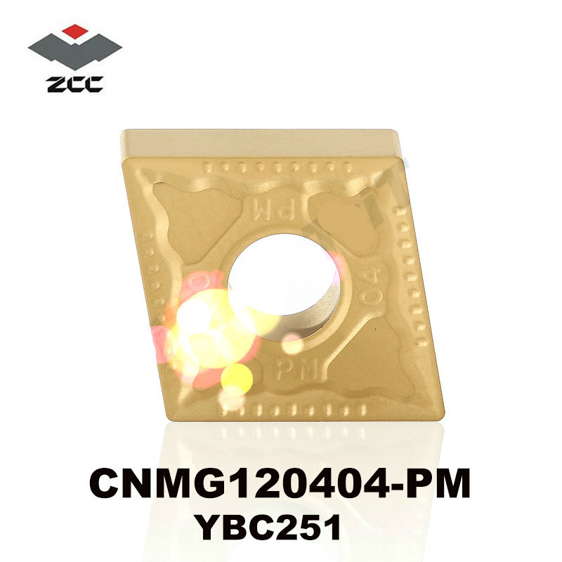 Original ZCC CT CNMG120404-PM YBC251 CNMG <font><b>120404</b></font> Carbide Inserts CNMG431 for Steel Stainless Steel Lathe Tools CNC Cutter image