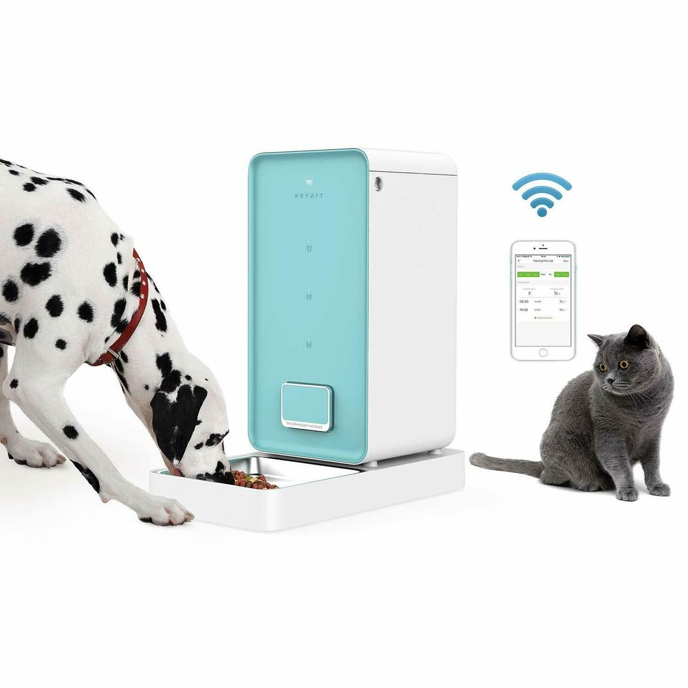 PETKIT 5.9L Automatic Pet Feeder Cat Feeder Smart Food Dispenser Wi-Fi Enabled App for iOS Android Dogs Cats Feeding Bowl