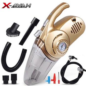 Portable Car Vacuum Cleaner Handheld Auto Vacuum 4 In 1 Car Air Compressor Tire Inflator Air Pump Mini Vacuum Cleaner For Home
