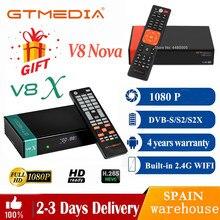 Receptor do fta gtmedia v8x 1080p receptor de satélite atualizado gtmeida v8 nova potência por gtmedia v8 honra bulit-em wifi hd completo h.265