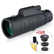 유니버설 4 in 1 전화 카메라 렌즈 피쉬 아이 렌즈 와이드 앵글 매크로 렌즈 40X 줌 망원경 텔레 스마트 폰 삼각대와 전화
