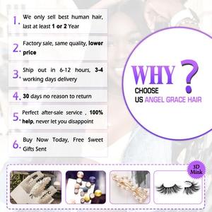 Image 5 - Angel Grace Hair doczepy typu Body Wave z zamknięciem Remy Human Hair 3 zestawy z zamknięciem brazylijskie włosy wyplata wiązki z zamknięciem