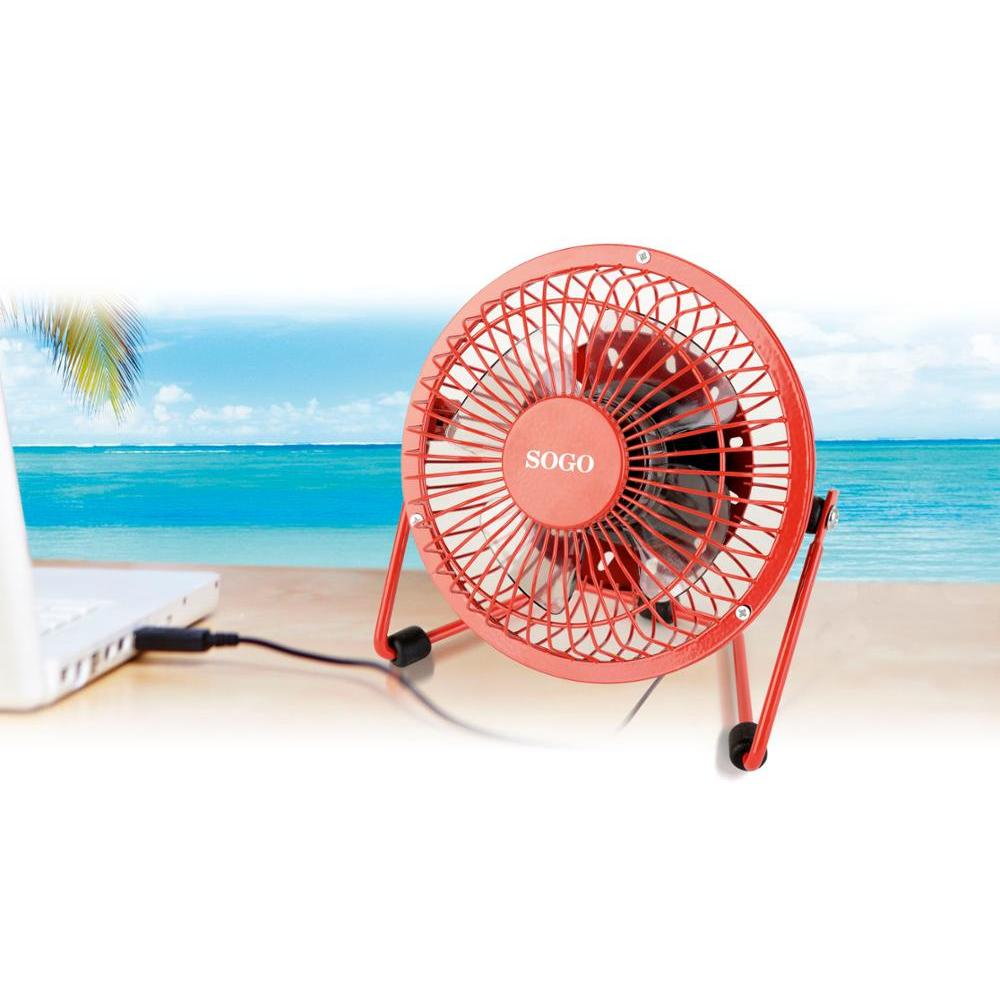 """Sogo-Fan Laptop 4 """"with USB Connection, Brushless, Cable 1.2 M, 2500 RPM, 3W"""