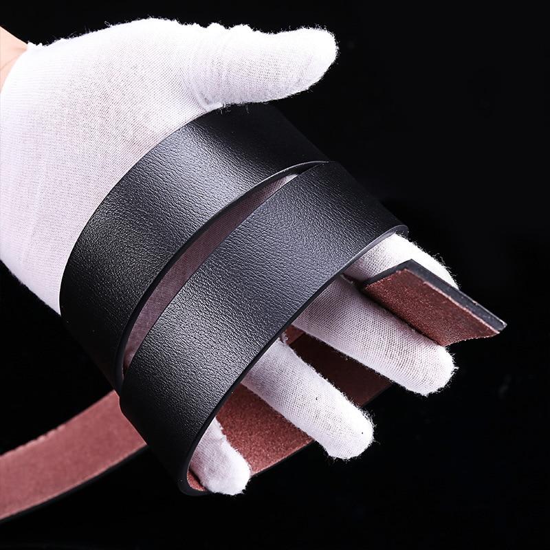 Men's Toothless Buckle Leather Belt Simple Fashion Business Leather Belt 3.5cm Ratchet Men No Tooth Buckle Belt Corset Belt