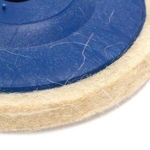 Image 5 - 100มม.ล้อขัดขัด Beige Buffing แผ่นบดเครื่องบดมุมล้อ Felt Polisher Disc สำหรับเซรามิคแก้วโลหะพลาสติก