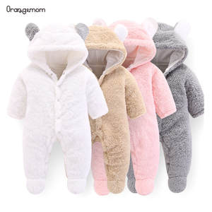 Orangemom Winter Jumpsuit Rompers Outwear Official Born-12m Baby-Girls Infant New Soft-Fleece