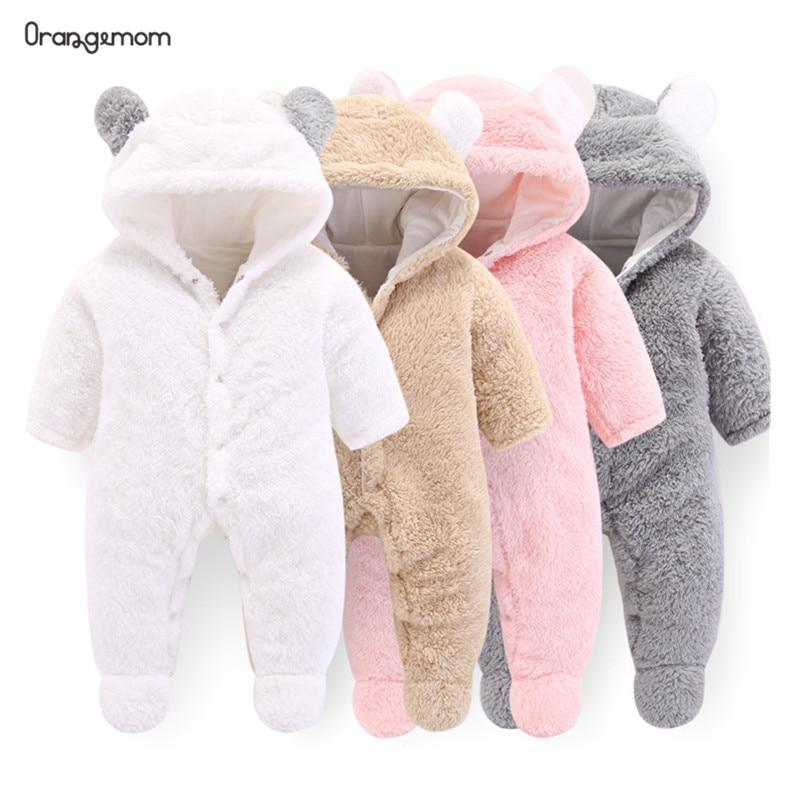 Orangemom officiel nouveau-né bébé vêtements d'hiver infantile bébé filles vêtements doux polaire vêtements barboteuses nouveau-né-12 m garçon combinaison