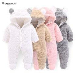 Orangemom oficial do bebê recém-nascido roupas de inverno infantil do bebê meninas roupas de lã macia outwear macacão recém nascido-12m menino macacão