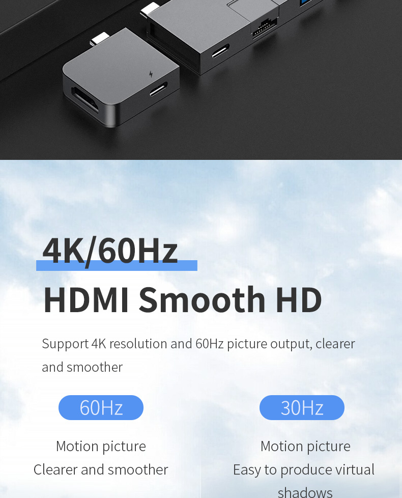 Hagibis usb-c hub adapter type-c to hdmi usb 3.0 rj45 gigabit ethernet sd/tf pd charge converter for macbook pro/air samsung s10