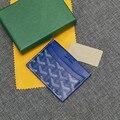 Goyard 2021 новая сумка с зубцами собаки дизайнерский кожаный Простой Модный вместительный компактный высококачественный кошелек для карт