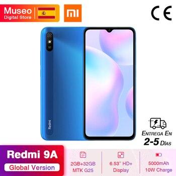 Перейти на Алиэкспресс и купить Смартфон Xiaomi Redmi 9A, 2 + 32 ГБ, 8-ядерный Процессор MTK Helio G25, 6,53 дюйма, 5000 мА · ч, 13 МП