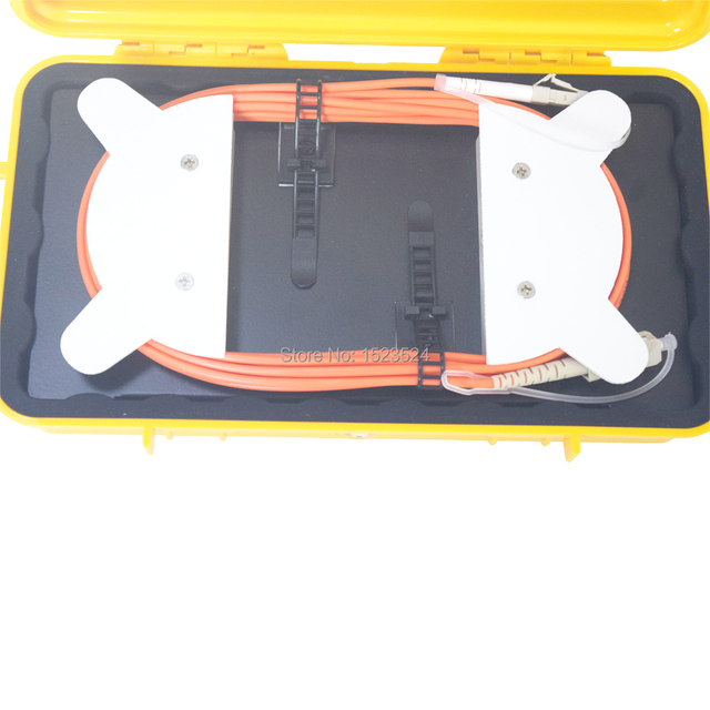 Eliminator martwej strefy OTDR, pierścienie światłowodowe, reflektometr światłowodowy skrzynka z przewodami rozruchowymi MM OM1 62.5/125 LC/UPC-SC/UPC 500M