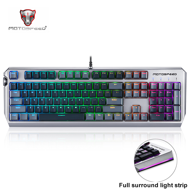 Motospeed CK80 Mechanical Keyboard Real RGB <font><b>104</b></font> Keys Wired USB Gaming Keyboard Backlight <font><b>PBT</b></font> <font><b>Keycap</b></font> for Desktop Computer Gamer image