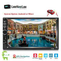 "LeeKooLuu 2din Android Auto Radio Autoradio Bluetooth 7 ""HD player Auto Audio GPS Navigation Wifi Auto-Multimedia-Player Für VW Kia"