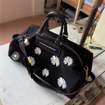 2020 New G-Dragon Embroidery Peaceminusone Fashionable Female Bag Embroidery Small Daisy Diagonal Bag Large Capacity Canvas Bags