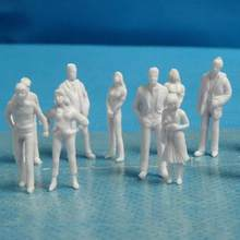 100 pçs 1/25 a 1/200 escala mini sem pintura branco modelo pessoas figuras diy brinquedo misturado miniatura branco modelo figuras arquitetônicas m