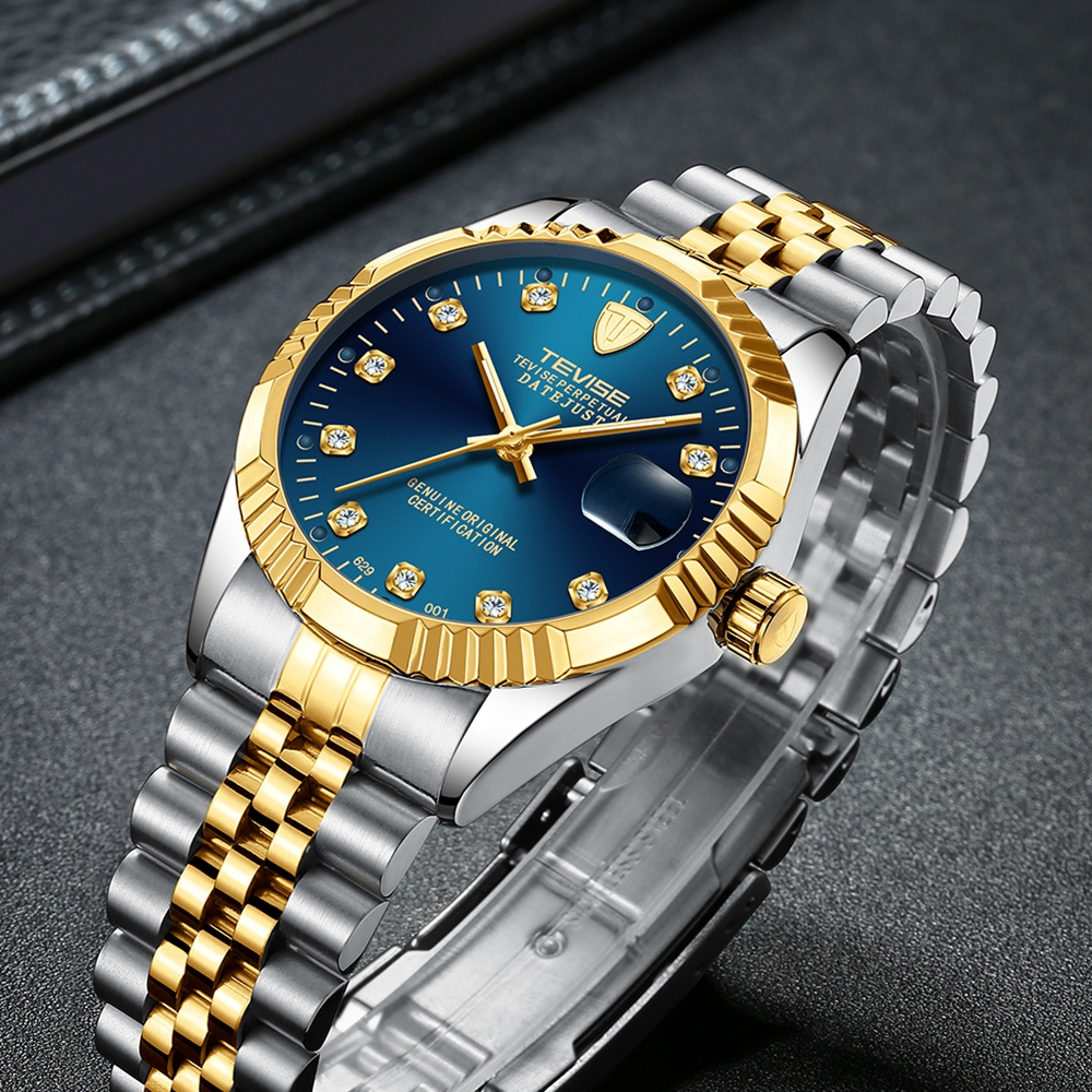 Tevise Armbanduhren Steampunk Herren Roman Number Day Watch - Herrenuhren - Foto 5