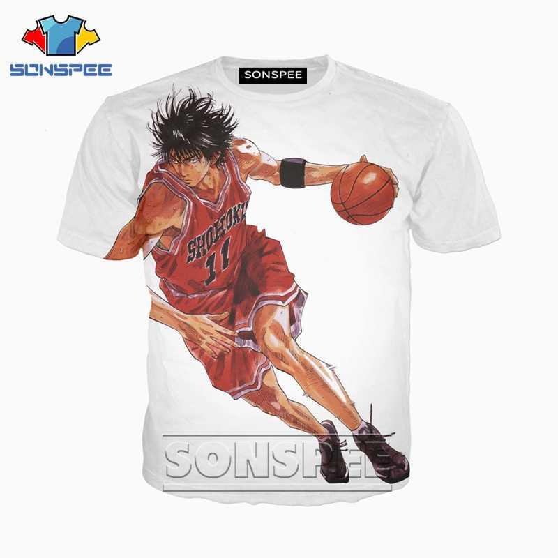 Anime 3d baskı komik Slam dunk t shirt streetwear Karikatür kaya erkekler Kadınlar moda t-shirt Harajuku çocuk gömlek homme gömlek a169
