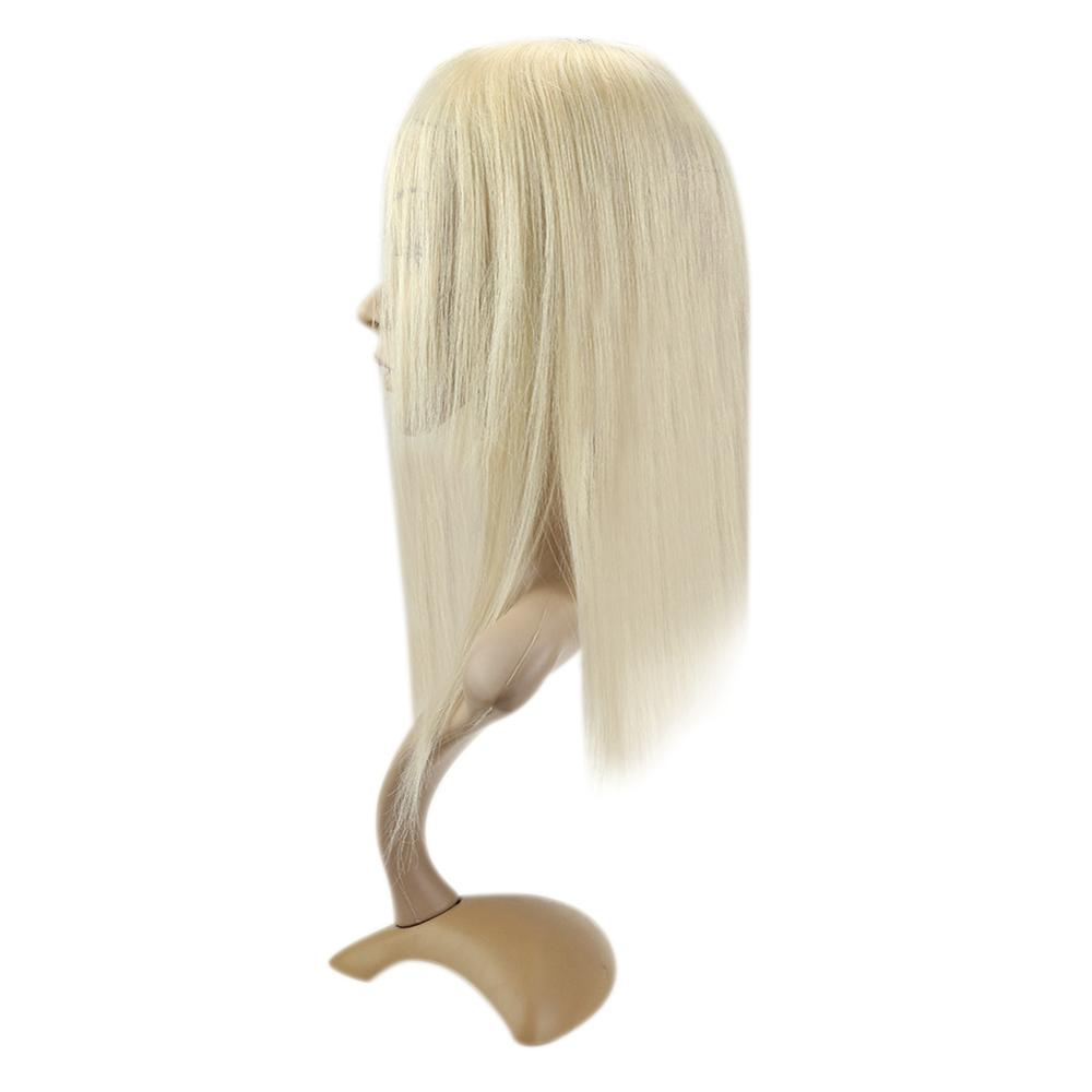 Full Shine Machine Made Remy Toupee Blonde Human Hair Crown Topper  9.5*10cm #60 Invisible 7a Grade Hair Crown Extension