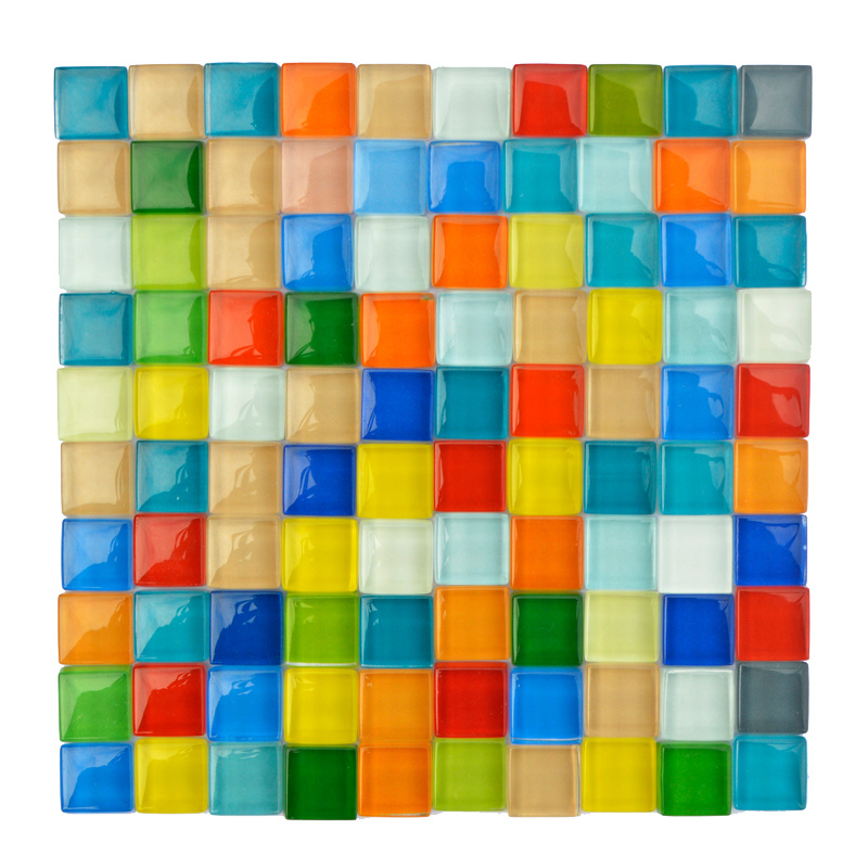 100g DIY Creative Diamond Mosaic Tiles Wall Crafts Handmade Decorative Materials Stained Glass Mosaic Arts Home Decoration-5