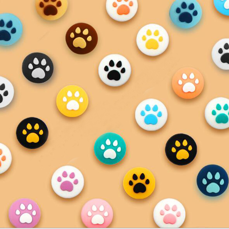 New Cute Cat Paw Claw Thumb Stick Grip Cap Joystick Cover For Nintend Switch Lite NS Joy-Con Controller Gamepad Thumbstick Case