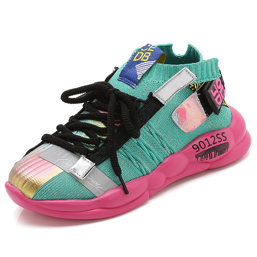 Daclay Shoes Boys Girls Sneakers Light Up Shoes Fashion Hiking Shoes Korean Style Mesh Breathable Shoes