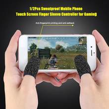 1/2Pc Finger Sleeve Touch Screen Cots Gaming Gloves for Fortnite Sweatproof Breathable Mobile Game Controller Fingertips To Pubg(China)