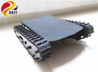 SZDOIT 15KG Load Large Metal Crawler Tracked Tank Chassis Rubber Tracked Robot A58SW 555 DC Motor DIY For Arduino Competition