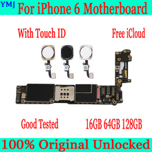 Original unlocked for iphone 6  Motherboard without / with Touch ID for iphone 6 4.7inch Logic Boards with IOS full function