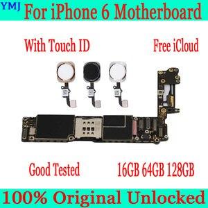Image 1 - Orijinal unlocked iphone 6 anakart olmadan/ile dokunmatik kimliği iphone 6 4.7 inç için mantık panoları IOS tam fonksiyonlu