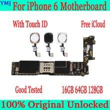 オリジナルロック解除iphone 6 マザーボードなしでタッチid iphone 6 4.7 インチのロジックボードiosフル機能