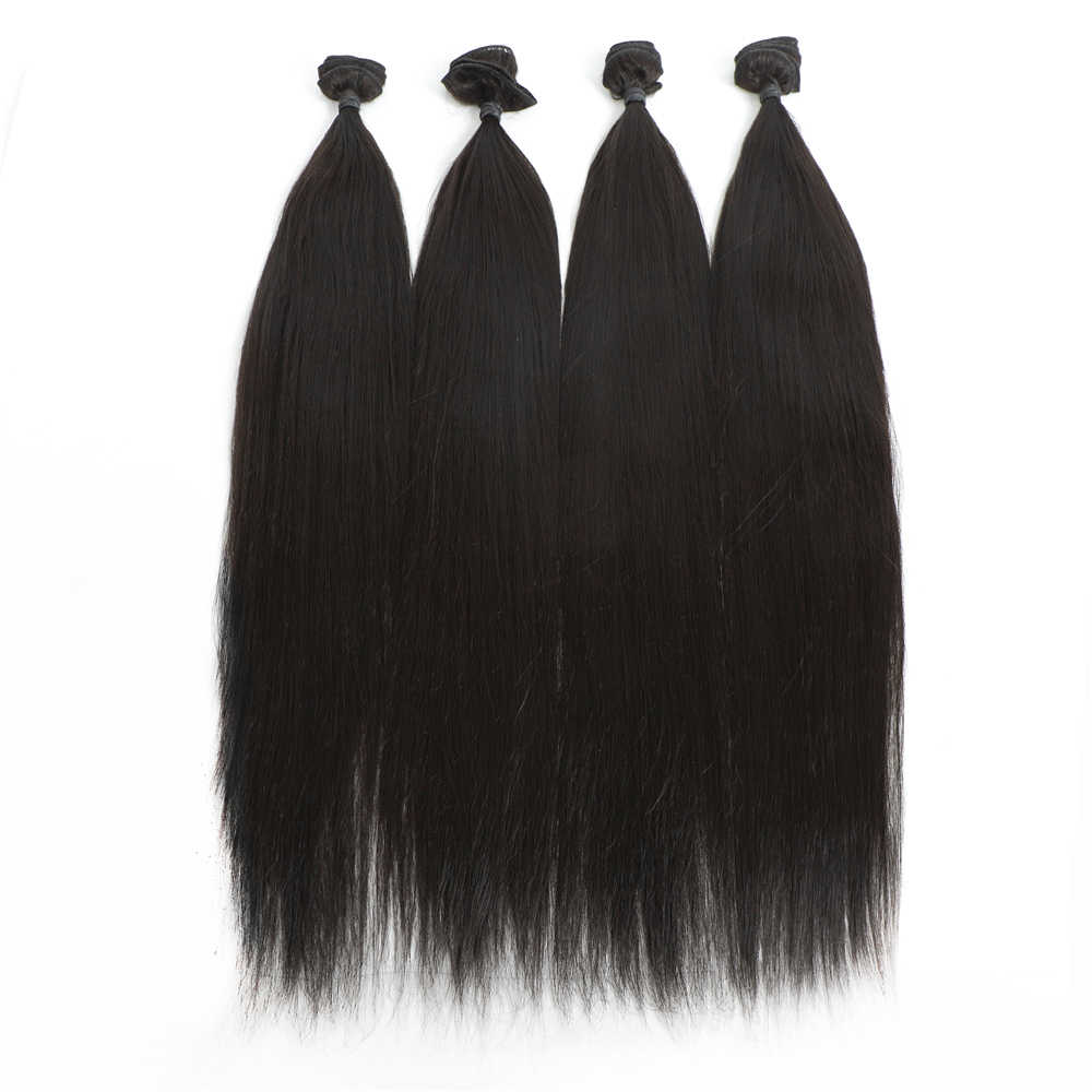 """Live Beauty Straight Hair Bundles Natural Color 24"""" 200g 4 Bundles/Pack Synthetic Hair Extensions Quality Hair Weave"""