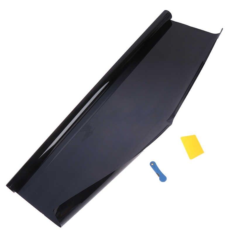 رائجة البيع 5% نافذة السيارة تينت سيارة الشمسية لاصق غشائي 75x300 سم سيارة المنزل الزجاج واقية من الانفجار نافذة التلوين لفافة خلات الفينيل
