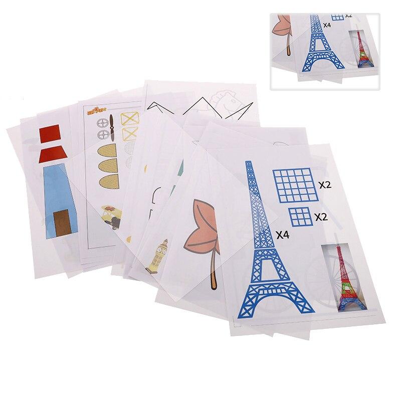 20 шт., произвольный специальный бумажный шаблон формы A4, размер, рисунок, 3D копировальная пластина для 3D печати, ручка для детей, трафареты дл...