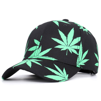 2020 New Hat Maple Leaf Hemp Cap Female Summer Sun Hat Baseball Cap Wild Sports Hat Fashion Lady