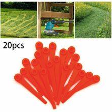 Nouvelle tondeuse longue lame en plastique pour Garde.na 8841 20 pièces garniture d'herbe en plastique. Remplacement de lame de mer outil de jardin longue durée # Y10