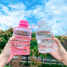 650ML Transparent Water Bottles for Girls Outdoor Sports Travel Portable Bucket Cup Leakproof Plastic Drink Bottle Wholesale New