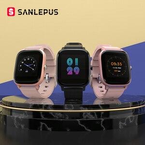 Смарт-часы SANLEPUS, спортивные часы с монитором сердечного ритма, Водонепроницаемый Фитнес-браслет для мужчин и женщин, умные часы для Android iOS ...