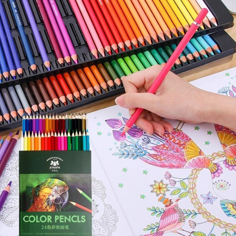 18/36/48colors Artist Painting Pencil Professional Multifunctional Wooden Graffiti Writing Colored Pencil Set Crayons Sketching