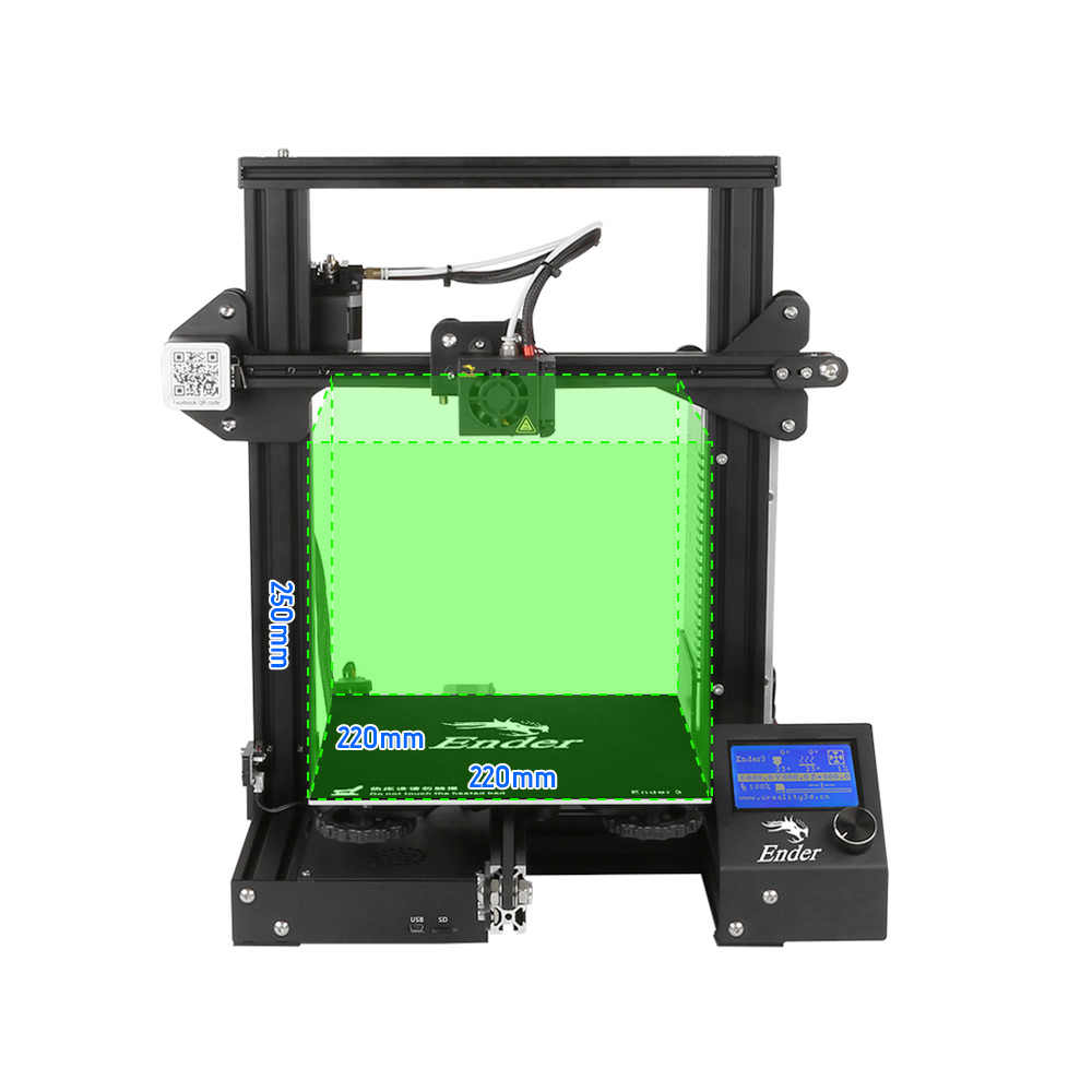 Ender-3 /Ender-3 Pro 3D Stampante Kit FAI DA TE 3D stampante di Grande Formato I3 mini Riprendere Mancanza di Alimentazione Della Stampante ender 3 impresora 3D