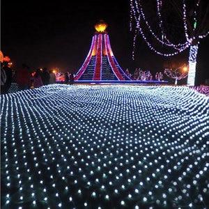 Image 3 - 3m*2m LED Net Lights Outdoor Mesh Christmas String Light Waterproof Landscape Wedding Holiday Xmas fairy Lamp Decoration EU 220V