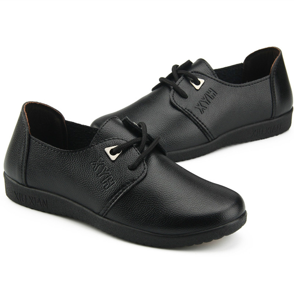Chef Waiter Shoes, Hotel and Restaurant Kitchen Shoe, Soft Work Non-slip Flat Shoes, Black Oil Proof Waterproof Women Shoes