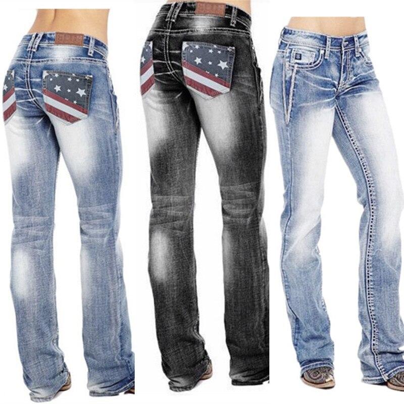 Женские джинсы брюки с высокой талией в стиле пэчворк Повседневная Свободная одежда размера плюс джинсы с застежкой-молнией в уличном стил...