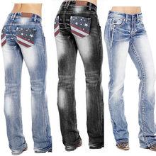 Jeans da donna in Denim pantaloni pantaloni a vita alta Patchwork abbigliamento Casual allentato Jeans con cerniera taglie forti Streetwear