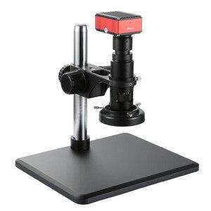 Image 5 - Full HD SONY capteur 2K 1080P HDMI vidéo Microscope électronique caméra de mesure Zoom continu c mount lentille métal PCB Inspection