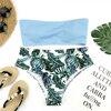 Riseado Bandeau High Waist Swimsuit Set 7