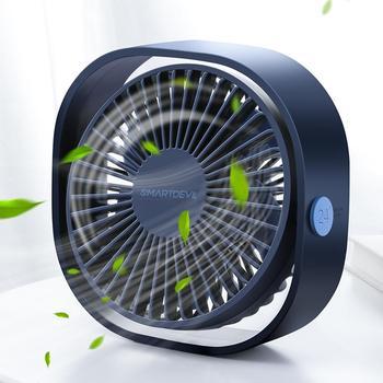 Портативный USB-вентилятор SMARTDEVIL, 3 скорости, вращение 360 градусов, регулируемый угол