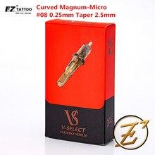 Needle-Supplies EZ Tattoo Cartridge-Needles Curved-Magnum V-Select Round Bugpin -08 20pcs/Box
