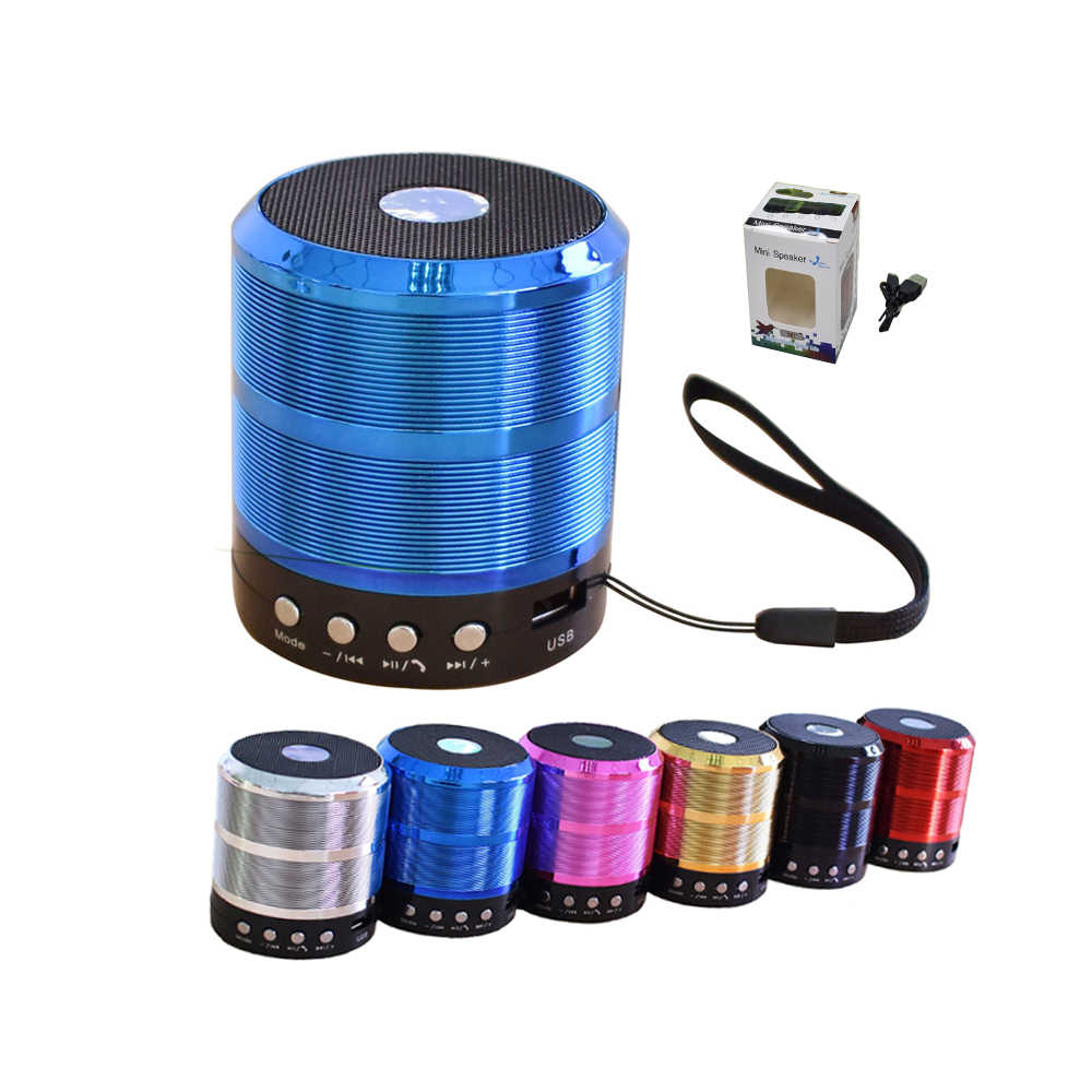WS887 Nirkabel Bluetooth Speaker Mini Portable Logam Subwoofer Super Bass Suppord TF Card untuk Android IOS